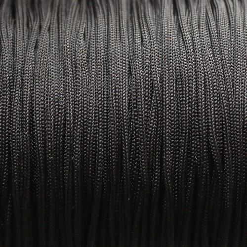 Nylonfaden Makramee geflochten 0,8mm schwarz 5m lang