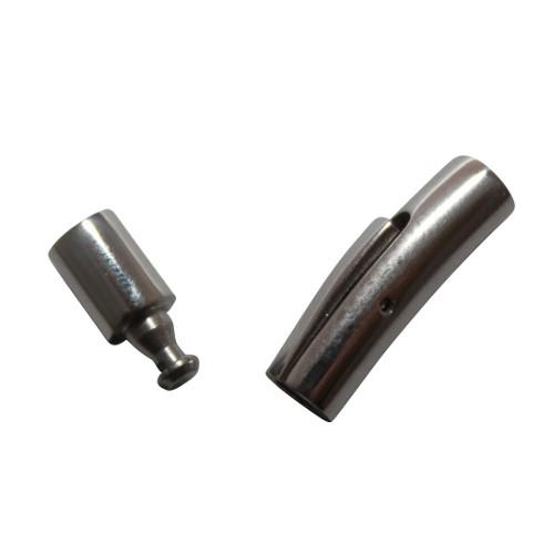 Steck- und Klipp Verschluß Edelstahl rund silber 28,5x6mm 1Stk.