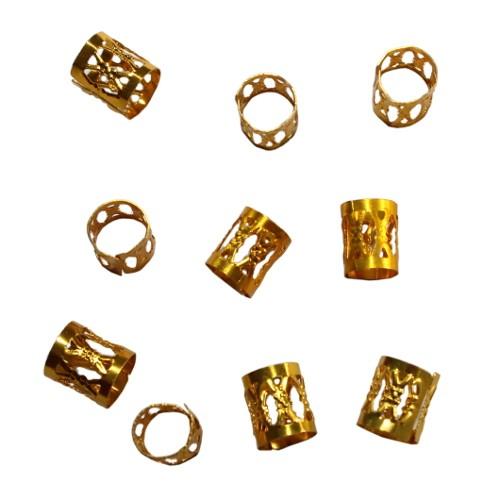 Aluminium Endkappe Tube offen gold 10x8,5mm 10Stück