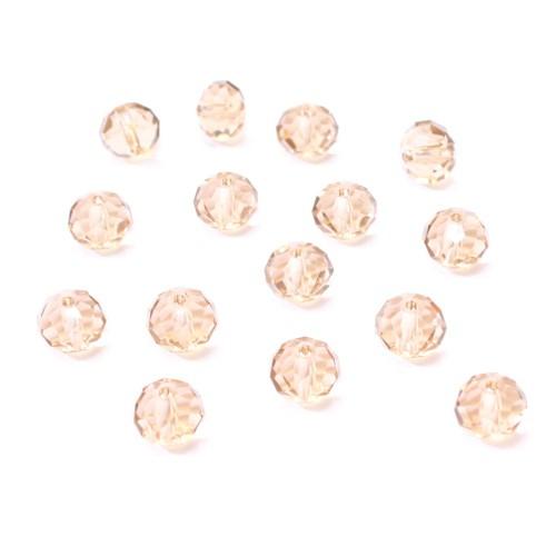 Glasperle Kristallglas Rhombe Bicone facettiert braun glänzend 8x6mm 15Stk.