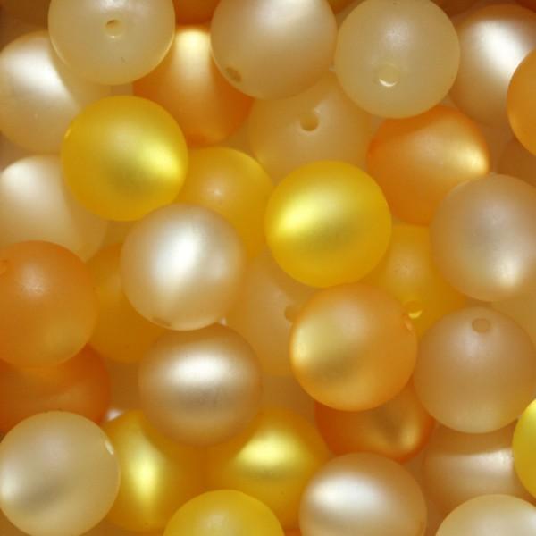 Polaris Kugel Perle matt Mix 20 Stück 8mm gelb - Töne