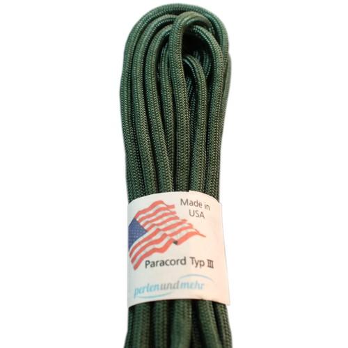 Paracord - perlenundmehr - original amerikanisch TypIII Farbe Emerald grün
