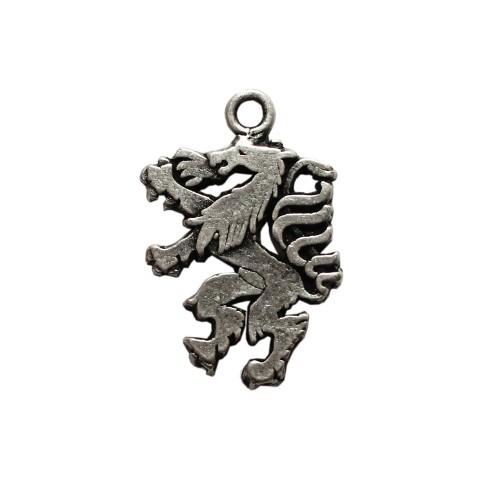 Metall Anhänger Wappen Steirischer Panther Tracht Antiksilber klein 21x15mm 1Stk.
