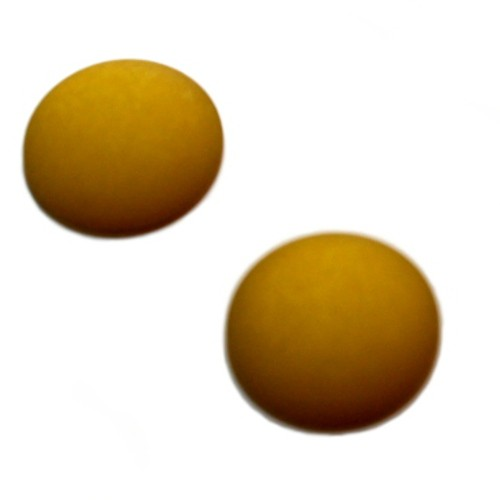 Cabochon Polaris rund flach matt kiwi 20mm 2 Stück