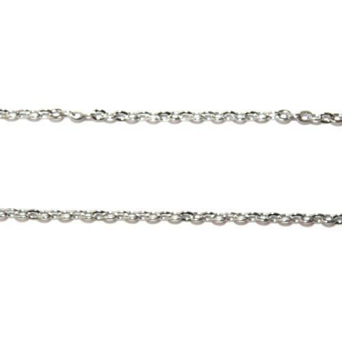 Kette Edelstahl silber zart 4 x 3mm 100cm lang