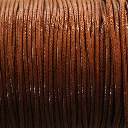 Wachsband gewachstes Baumwollband 2mm braun 5 m lang