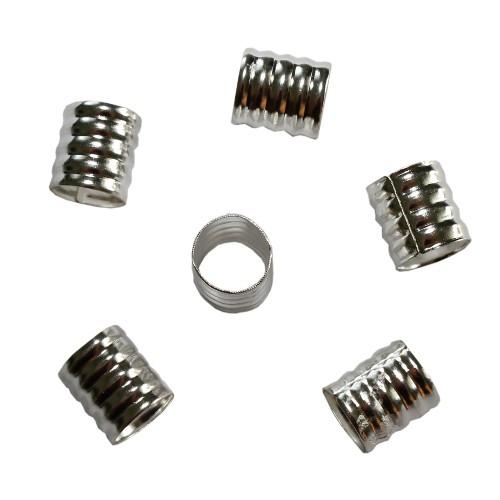 Aluminium Endkappe Tube offen silber 9x9mm 10Stück