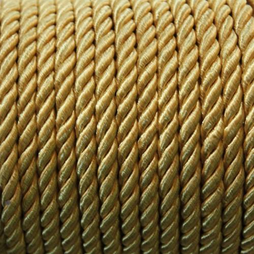 Kordel geflochten 5mm gold - gelb 200 cm lang