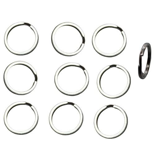 Federring Schlüsselring Edelstahl Spaltring Biegering Bindering offen silber 25mm 10Stk.