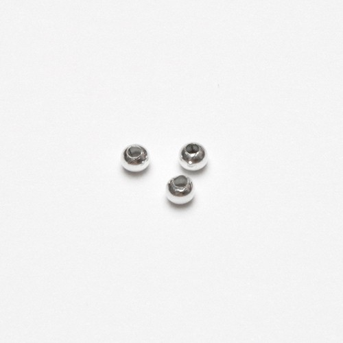 Metallperle Spacer Kugel glatt versilbert 3mm 100Stk.