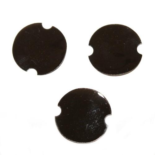 Ringhalter zur dekorativen Schmuckpräsentation schwarz tranparent 39 x 0,8 mm 10 Stk.