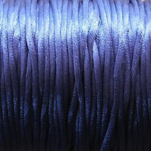 Seidenband Nylonfaden 2mm dunkel blau 5 m lang