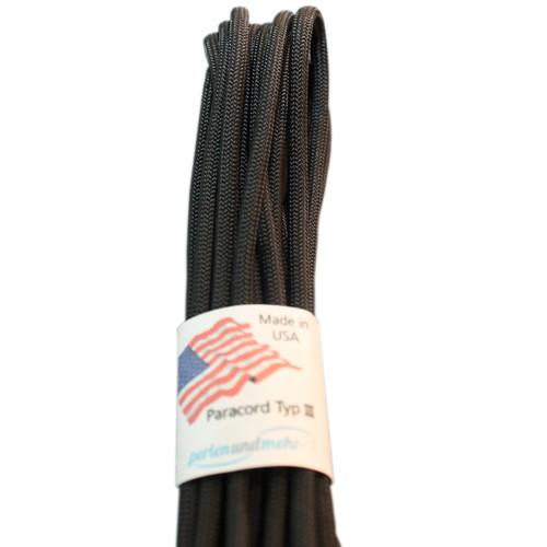 Paracord - perlenundmehr - original amerikanisch TypIII Farbe schwarz
